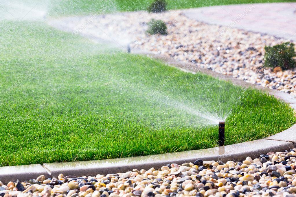 Como cuidar do jardim-uso de aspersores para regar